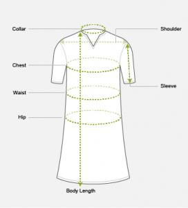 Μεγέθη σε Μπλούζες - Φορέματα