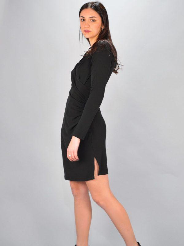 Γυναικεία Ρούχα Avant Garde Μαύρο Φόρεμα Κρουαζέ