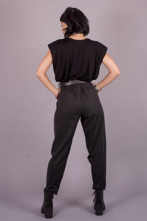 Γυναικεία Ρούχα Black & Black Παντελόνι Ψηλόμεσο