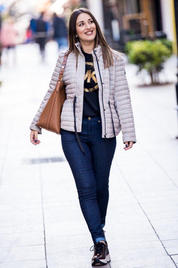 Γυναικεία Ρούχα Michael Kors Μπουφάν Καρό