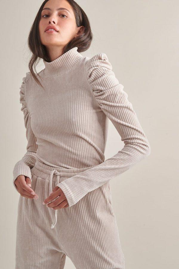 Γυναικεία Ρούχα My Tiffany Μπλούζα Κοτλέ