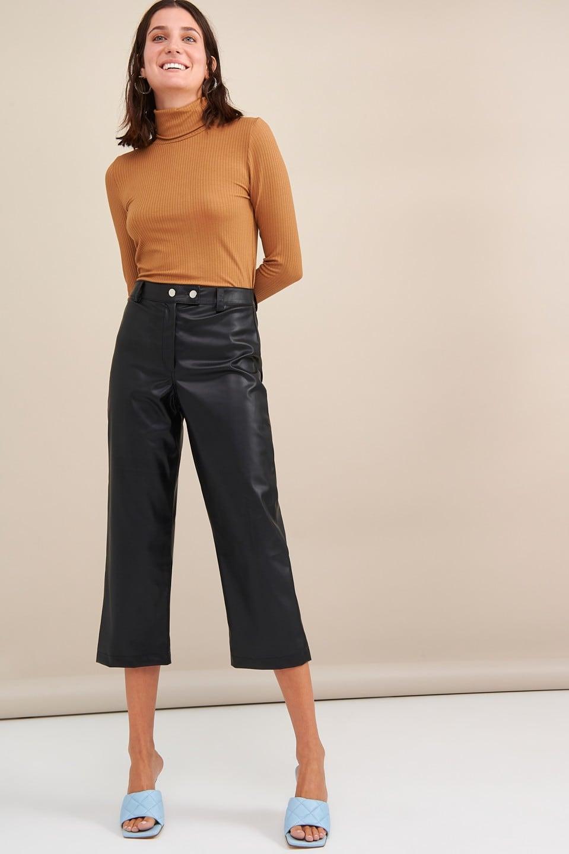 Γυναικεία Ρούχα My Tiffany Παντελόνι Δερματίνη