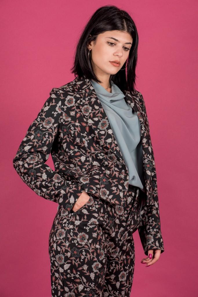 Γυναικεία Ρούχα My Tiffany Σακάκι Crop Floral