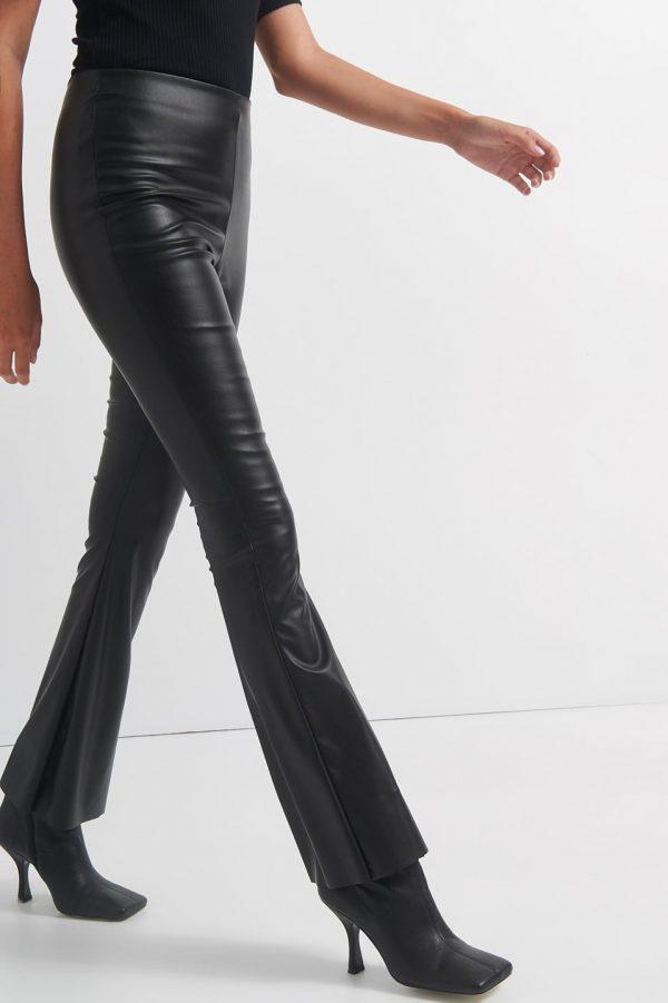 Γυναικεία Ρούχα BLACK&BLACK ΔΕΡΜΑΤΙΝΗ ΠΑΝΤΕΛΟΝΙ ΚΑΜΠΑΝΑ