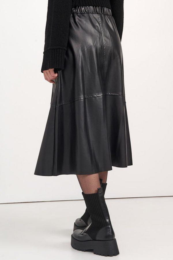 Γυναικεία Ρούχα BLACK&BLACK ΔΕΡΜΑΤΙΝΗ ΦΟΥΣΤΑ