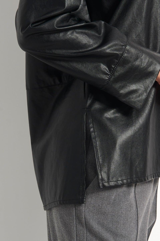 Γυναικεία Ρούχα BLACK&BLACK ΔΕΡΜΑΤΙΝΟ ΠΟΥΚΑΜΙΣΟ
