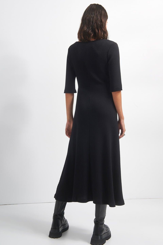 Γυναικεία Ρούχα BLACK&BLACK ΜΑΚΡΥ ΦΟΡΕΜΑ ΡΙΜΠ