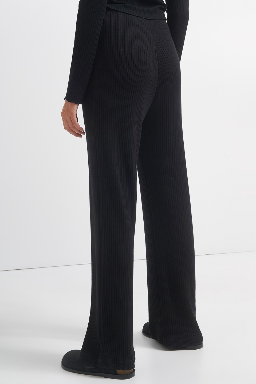 Γυναικεία Ρούχα BLACK&BLACK ΠΑΝΤΕΛΟΝΑ ΡΙΜΠ ΜΑΥΡΗ