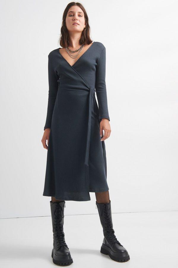 Γυναικεία Ρούχα BLACK&BLACK ΦΟΡΕΜΑ RIP ΚΡΟΥΑΖΕ