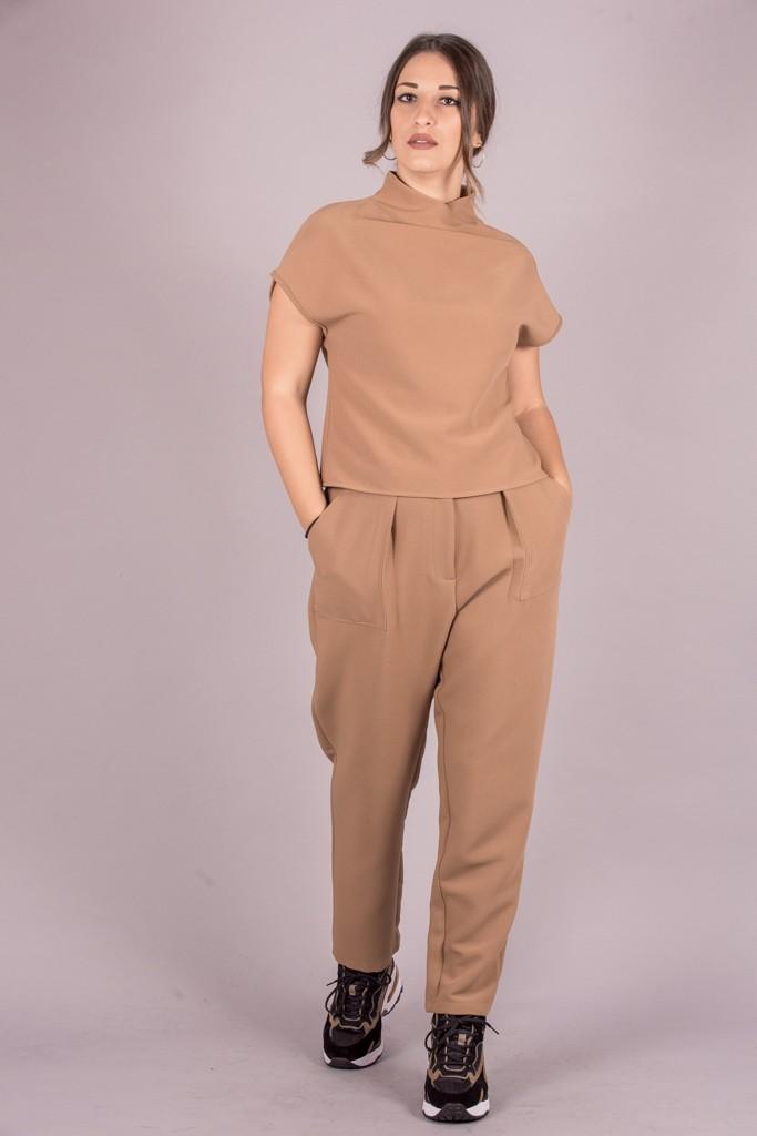 Γυναικεία Ρούχα CKONTOVA ΠΑΝΤΕΛΟΝΙ ΜΠΕΖ