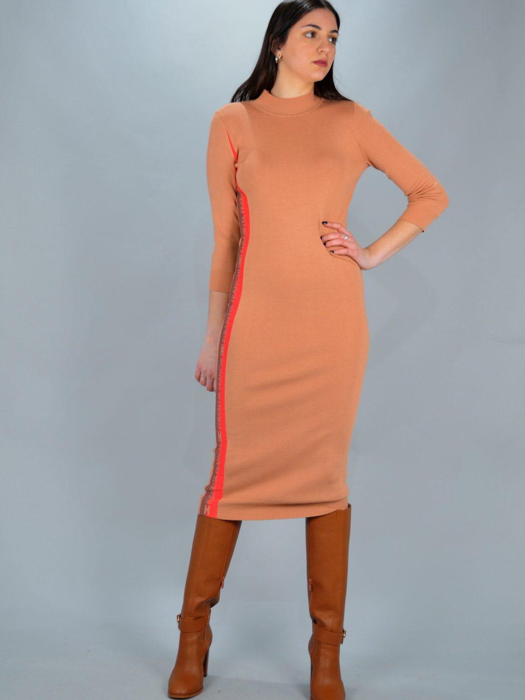 Φορέματα ELISABETTA FRANCHI PENCIL MIDI ΦΟΡΕΜΑ ΠΛΕΚΤΟ