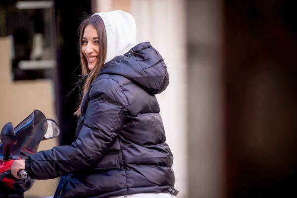 Γυναικεία Ρούχα KENDALL+KYLIE ΜΠΟΥΦΑΝ BOMBER TAPE