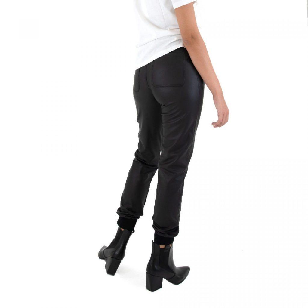 Γυναικεία Ρούχα KENDALL+KYLIE LEATHER JOGGER PANTS