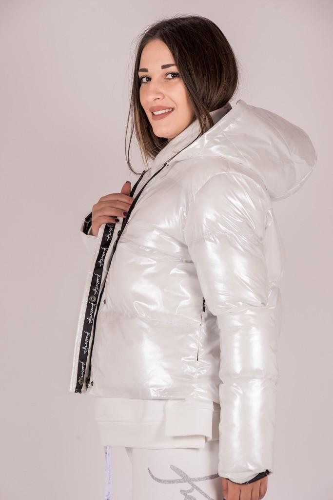 Γυναικεία Ρούχα Kendall+Kylie ΜΠΟΥΦΑΝ ΛΕΥΚΟ DOWN BOMBER
