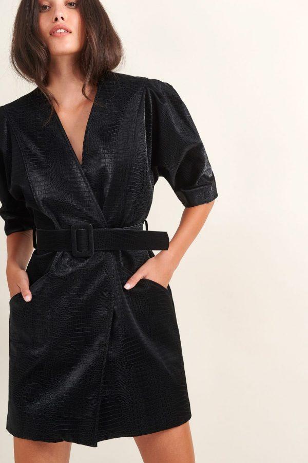 Γυναικεία Ρούχα LACE MINI DRESS CROCO