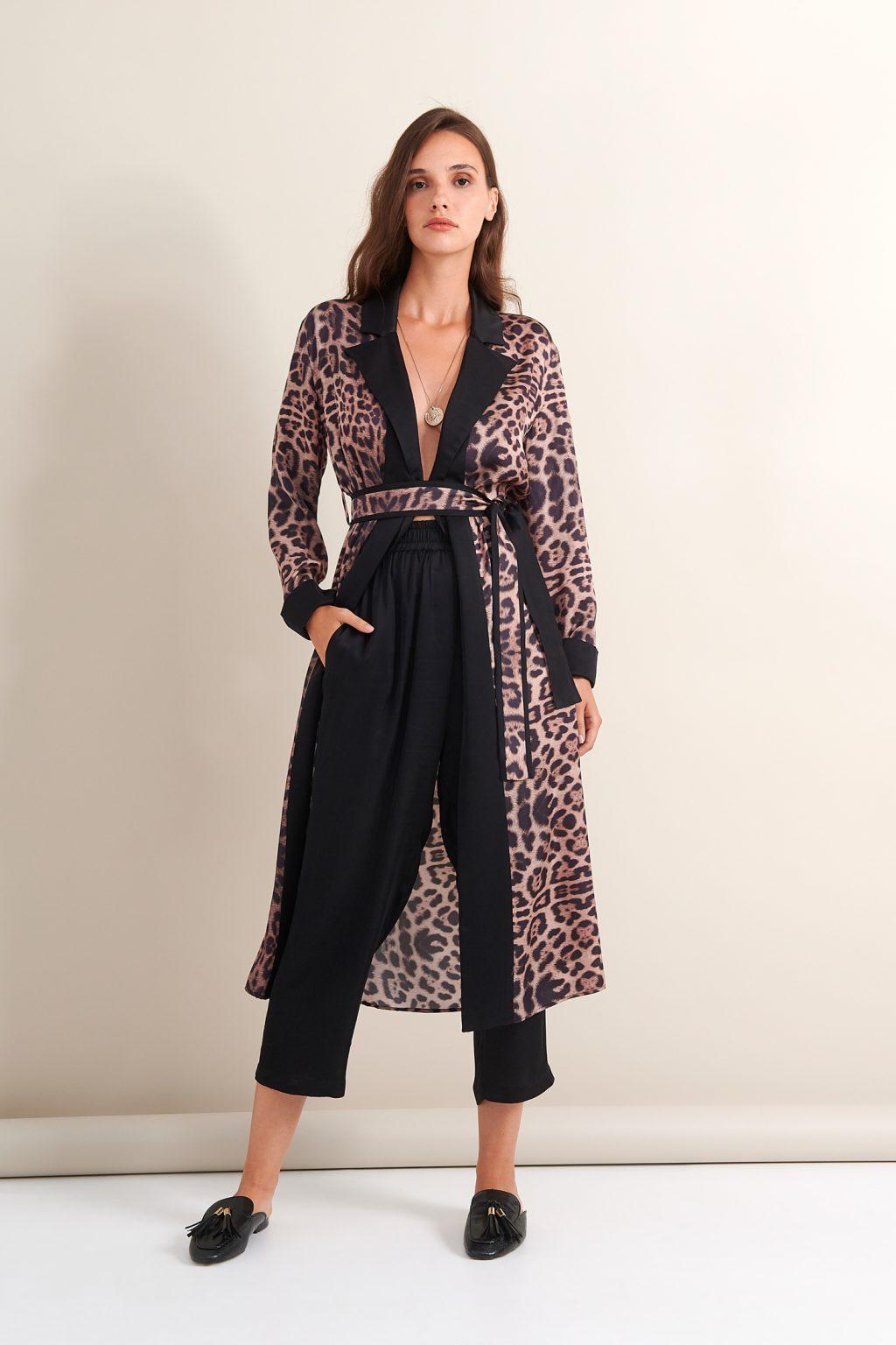 Γυναικεία Ρούχα LACE ROBE DRESS ANIMAL PRINT