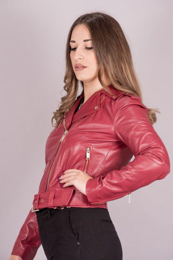 Γυναικεία Ρούχα Michael Kors Δερμάτινο Μπουφάν Biker Style
