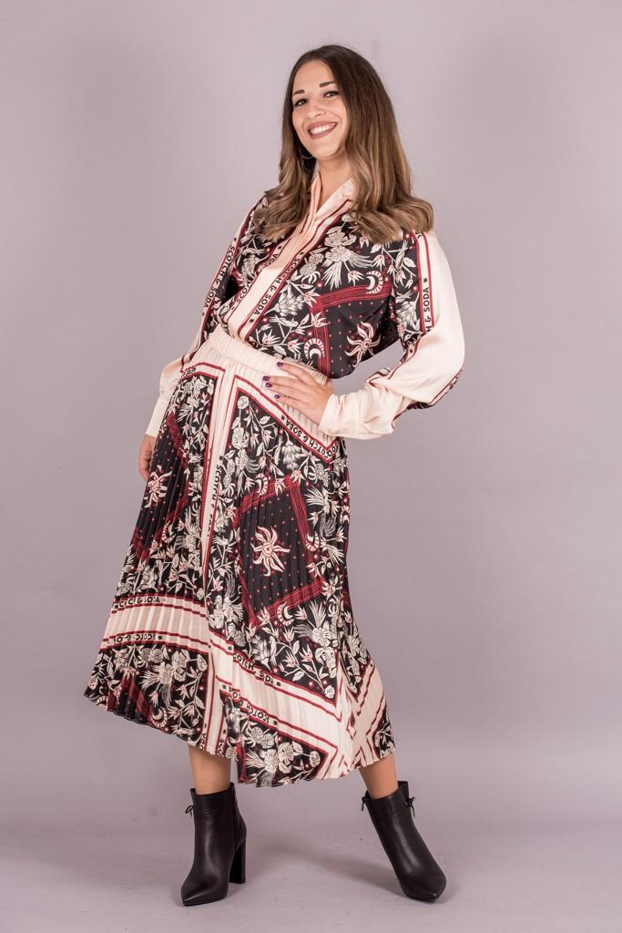 Γυναικεία Ρούχα Scotch&Soda Φούστα Πλισέ με Print