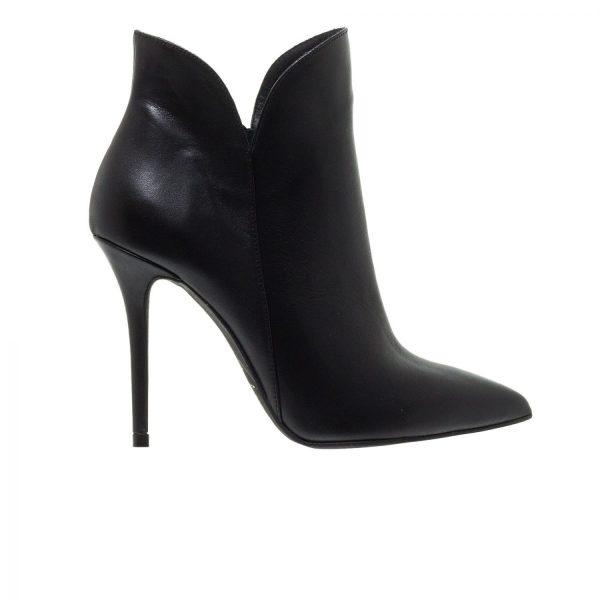 Παπούτσια Mourtzi Δερμάτινα Μποτάκια Με Τακούνι