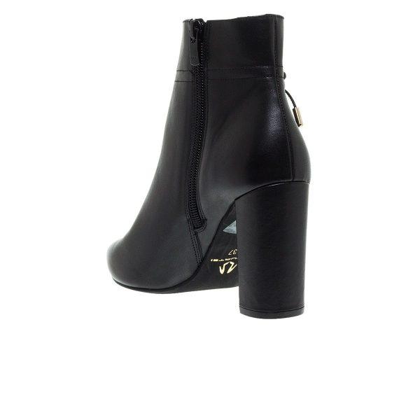Παπούτσια Mourtzi Δερμάτινα Μποτάκια Με Φιόγκο