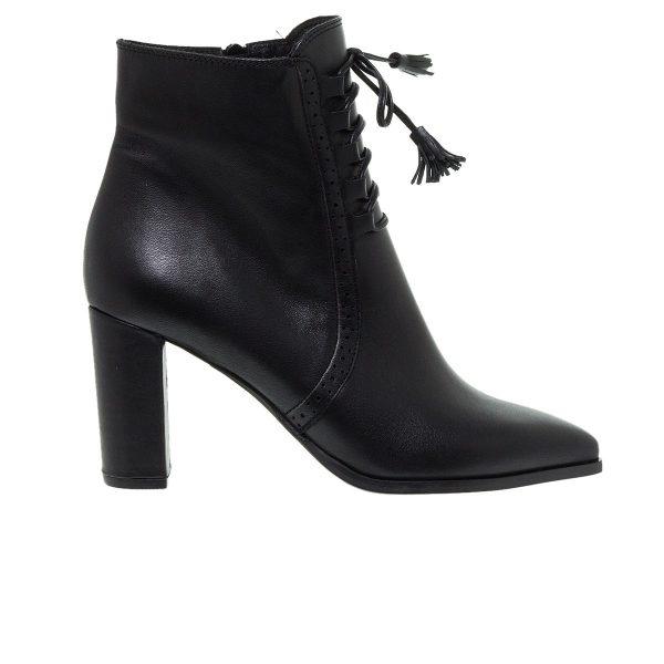 Παπούτσια Mourtzi Μαύρα Δερμάτινα Μποτάκια