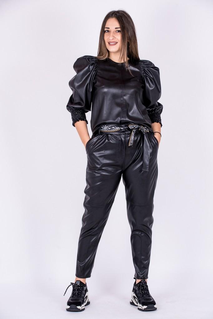 Γυναικεία Ρούχα NEMA ΠΑΝΤΕΛΟΝΙ ΔΕΡΜΑΤΙΝΗ