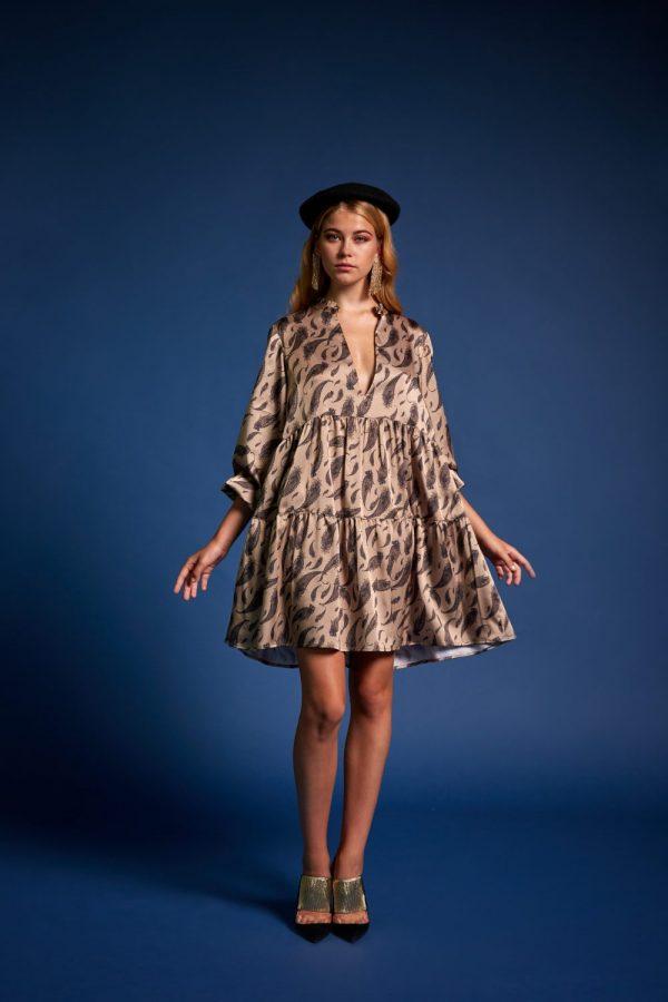 Γυναικεία Ρούχα NEMA BOHO DRESS ΜΕ PRINT