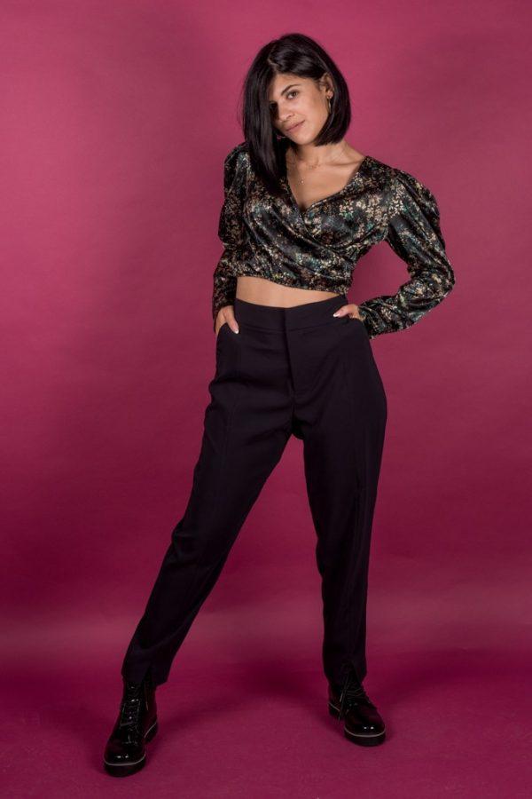 Γυναικεία Ρούχα SCOTCH&SODA ΠΑΝΤΕΛΟΝΙ ΥΦΑΣΜΑΤΙΝΟ