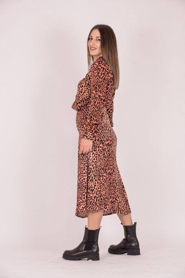 Γυναικεία Ρούχα SCOTCH&SODA SKIRT SATIN LEOPARD