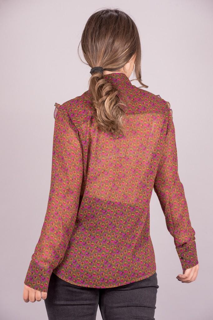 Γυναικεία Ρούχα Scotch&Soda Πουκάμισο Floral Ημιδιάφανο