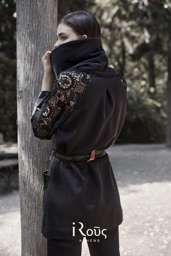 Γυναικεία Ρούχα I-ROUS JACKET ΜΕ ΔΑΝΤΕΛΑ ΣΤΑ ΜΑΝΙΚΙΑ