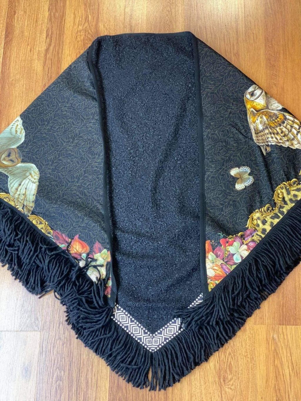 Αξεσουάρ KATHERINA LORRETA PONCHO BOUCLE BLACK (ANIMAL)
