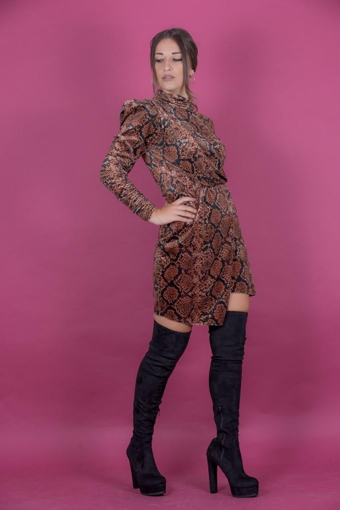 Γυναικεία Ρούχα LACE ANIMAL PRINT SHORT DRESS
