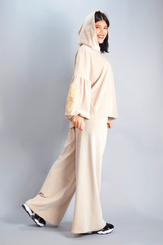 Γυναικεία Ρούχα NEMA SET VELVET ΦΟΡΜΑ ΜΕ ΚΕΝΤΗΜΑ