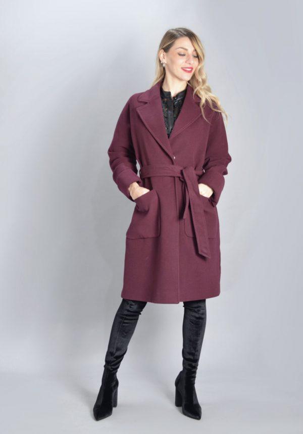 Γυναικεία Ρούχα ICON ΜΠΟΡΝΤΟ ΠΑΛΤΟ