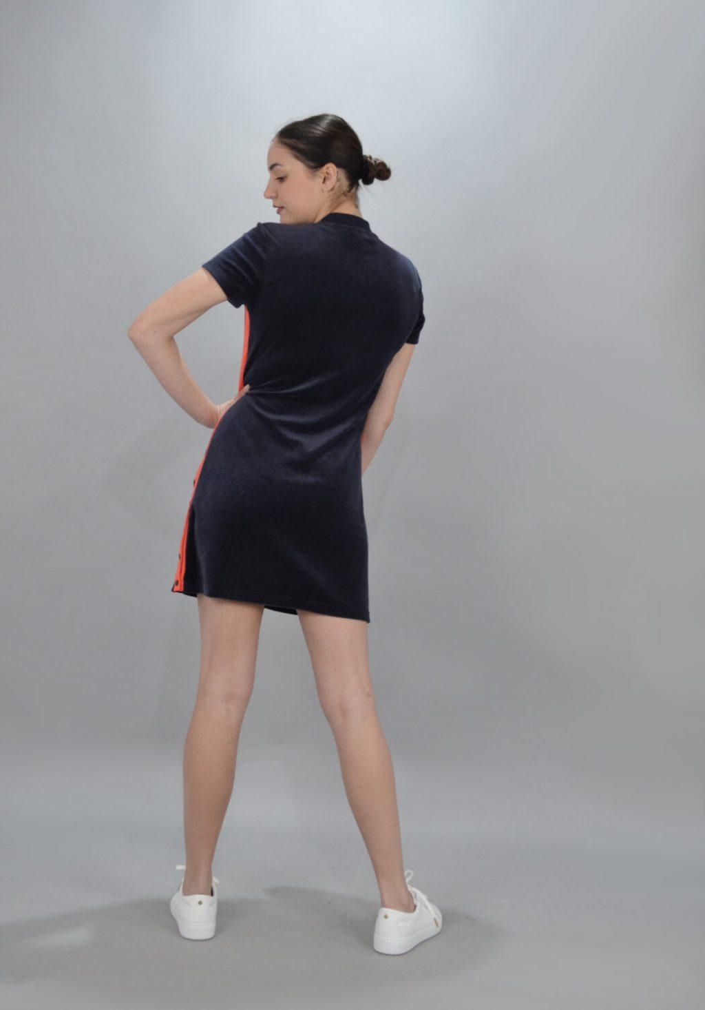 Γυναικεία Ρούχα JUICY ΦΟΡΕΜΑ SATIN ΚΑΙ VELOR MIX