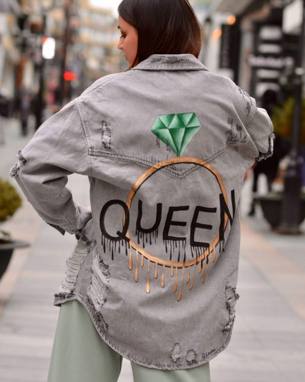 Collection Spring - Summer 2021 Q.LAVINE QUEEN GREY JEAN JACKET