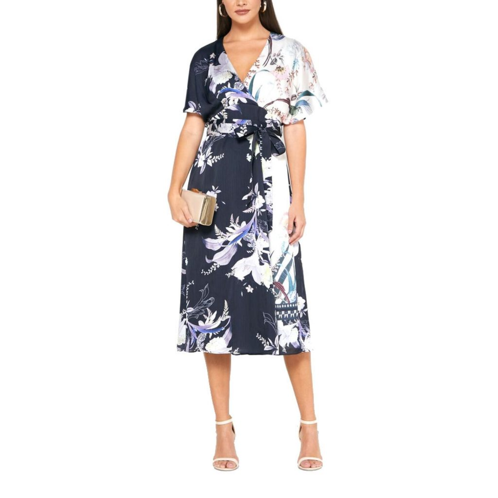 Collection Spring - Summer 2021 TED BAKER NIITA DECADENCE WRAP MIDI DRESS