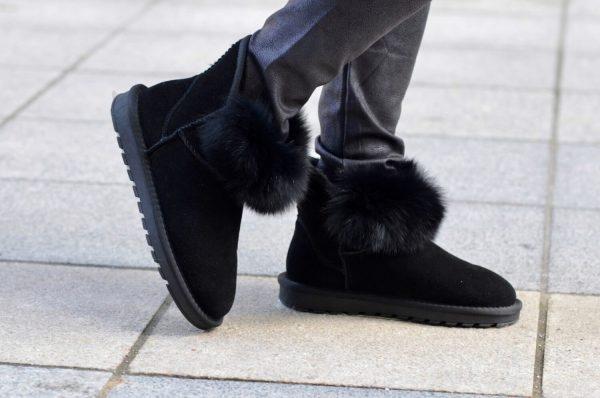 Μπότες - Μποτάκια SHOES BLACK SUEDE ΜΠΟΤΑΚΙΑ ΜΕ ΓΟΥΝΑ