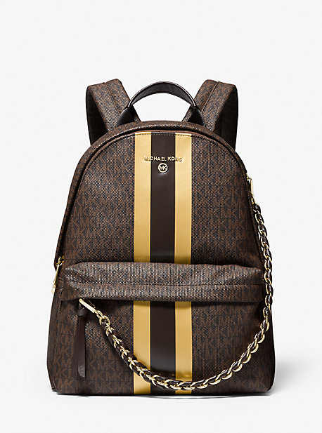 Collection Spring - Summer 2021 Michael Kors Slater Medium Logo Metallic Stripe Backpack