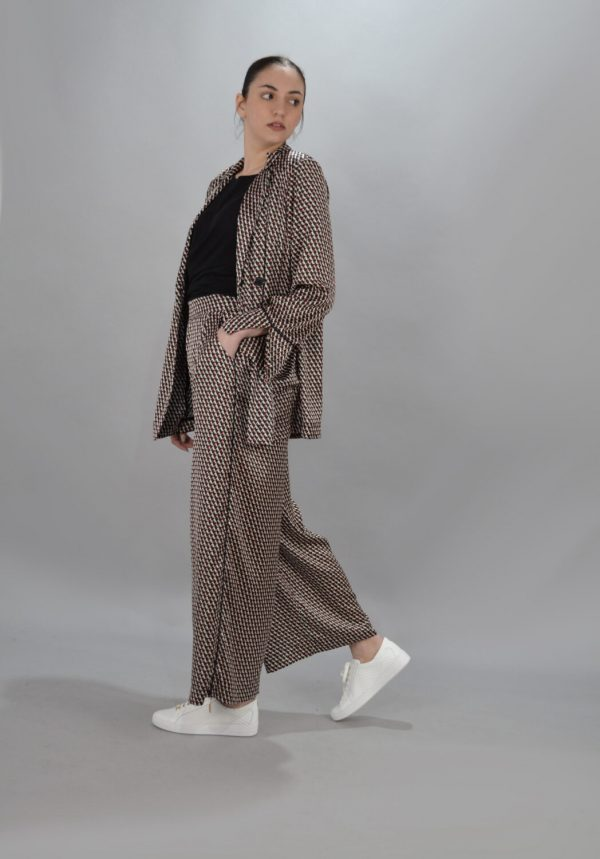 Γυναικεία Ρούχα CKONTOVA CREPE SATEN BLAZER ΜΠΛΕ