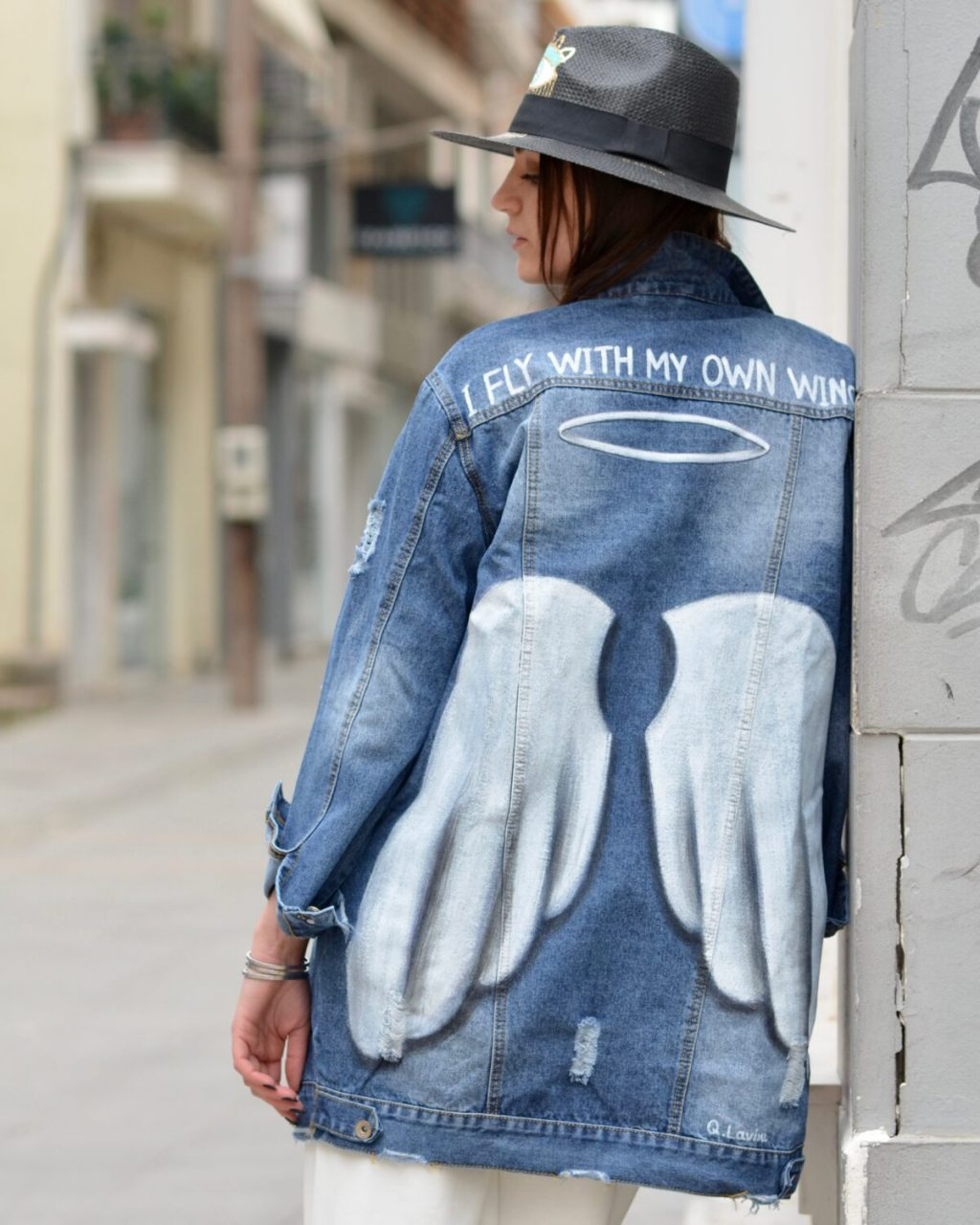 Collection Spring - Summer 2021 Q.LAVINE JEAN JACKET ANGEL WINGS
