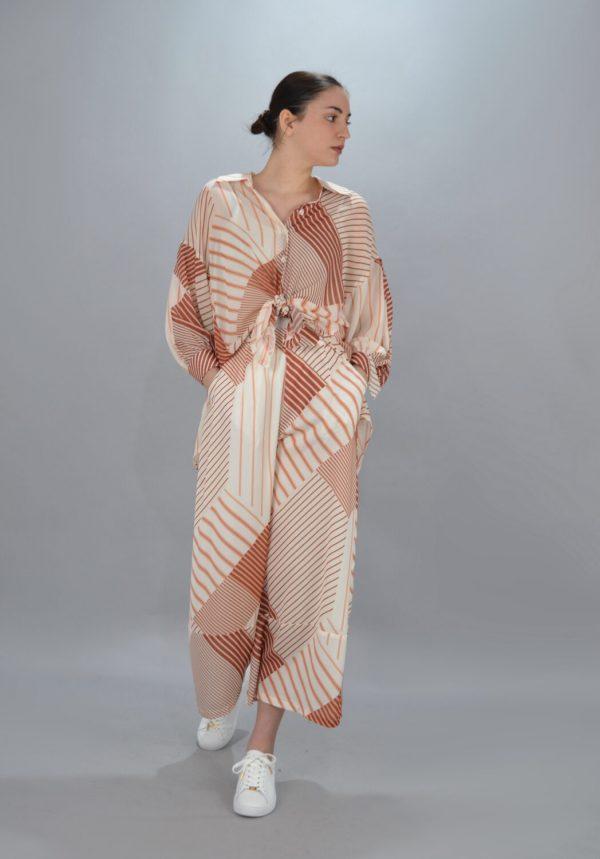 Γυναικεία Ρούχα CKONTOVA SET ΜΕ GEOMETRIC PRINT