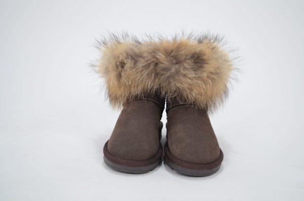Μπότες - Μποτάκια SHOES BROWN SUEDE ΜΠΟΤΑΚΙ ΜΕ ΑΛΗΘΙΝΗ ΓΟΥΝΑ