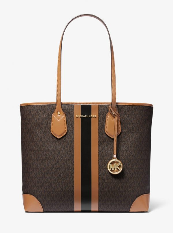 Collection Spring - Summer 2021 Michael Kors Eva Large Logo Stripe Tote Bag