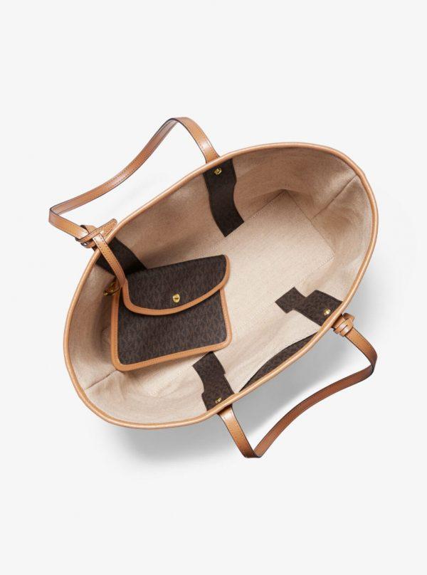Collection Spring - Summer 2021 Michael Kors Eva Large Logo Stripe Tote Bag