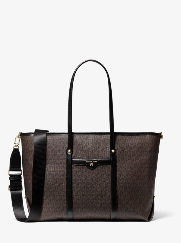 Collection Spring - Summer 2021 Michael Kors Beck Large Logo Tote Bag Black