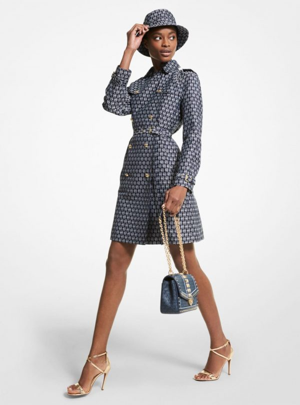 Collection Spring - Summer 2021 MICHAEL KORS DIAMOND LOGO JACQUARD TRENCH COAT