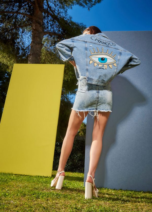 Collection Spring - Summer 2021 MANOLO OVER JEAN JACKET HAND PAINTED