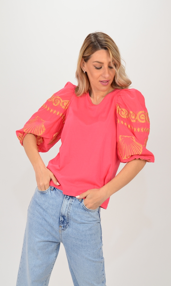 Collection Spring - Summer 2021 NEMA SHELL PRINTED BLOUSE